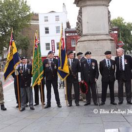 """Remember the fallen on  V - J Day. Mornington Crescent, August 15th 2014"