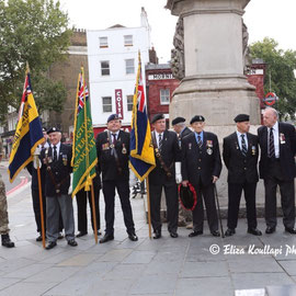 """Remember the fallen on  V - J Day. Mornington Crescent, August 15th 2014"