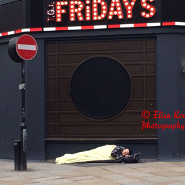 Homeless....Piccadilly Circus, London, February 2014