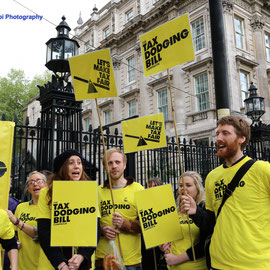 Demanding a Tax Dodging Bill. Downing Street, May 2015