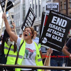National demonstration for Gaza. August 9th 2014