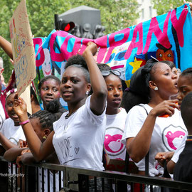 Kids Company rally at Downing Street. August 7th 2015