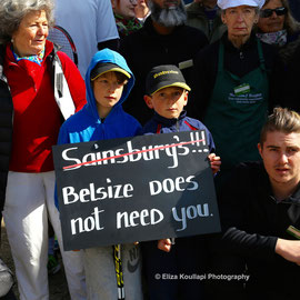 Campaign against new supermarket opening in Belsize Park. 23/4/16