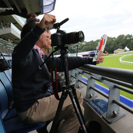 Photographer gets excited at Ascot when Japanese pilot Yoshihide Muroya takes off. Red Bull Air Race World Championship, August 15th 2015
