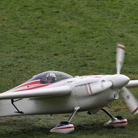 German pilot Matthias Dolderer and his raceplane. August 15th 2015