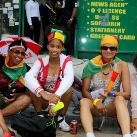 Suzan (third from left) with her two daughters and auntie. Notting Hill Carnival, August 30th 2015