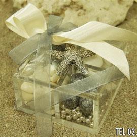 Plexiglass portaconfetti con stella marina