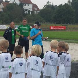 Holger Wegener bei der Begrüßung
