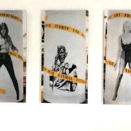 Ulrike Rosenbach, TYPISCH FRAU, Frauenkultur-Kontaktversuch, 1979, c-photography, Plakat Aktion, Bonn.