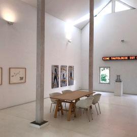 Exhibition view, THOUGHT ENTERTAINER, DENK-UNTERHALTER ©rfilliou, Work as Play, 1970. J. BEUYS, J. CAGE, M. DUCHAMP, U. DOSSI, R. FILLIOU, LES LEVINE,  YUTAKA MATSUZAWA, MUNTADAS, PATRICK RAYNAUD, U. ROSENBACH, DIETER ROTH, TIMM ULRICHS, L. WEINER