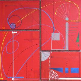 arche du temps. tableau. abstrait. abstraction