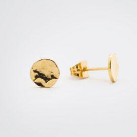 Boucles d'oreilles martelées-artisanat-Céline Flageul