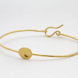 Bracelet Luna avec plaque- bijoux minimalistes -Céline Flageul