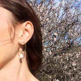 Boucles d'oreilles-perle-minimaliste-Céline Flageul