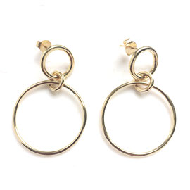 Boucles d'oreilles-cercle-dorées-Céline Flageul