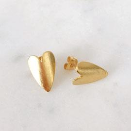 Boucles d'oreilles coeur doré - Céline Flageul