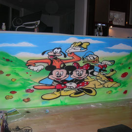 Wandmalerei / Micky Maus