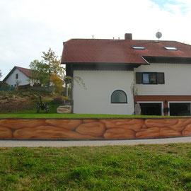Garten-/Betonmauer - Design Malerei