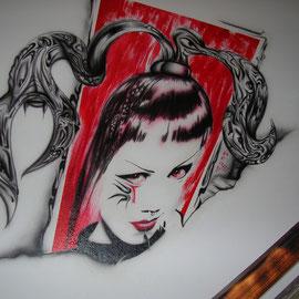 """Wandmalerei / Tattoostudio """" Il papa """""""