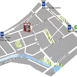 Anfahrtskizze für Cafè Hubert