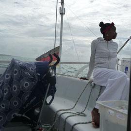 Ausfahrt auf dem Atlantik