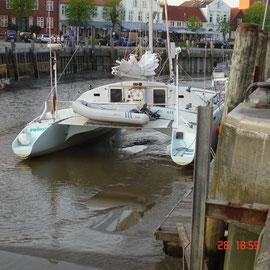 Trockenfallen im Hafen von Tönning