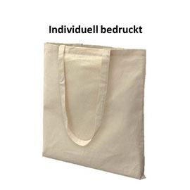 Stofftasche mit langen Henkel, individuell bedruckbar