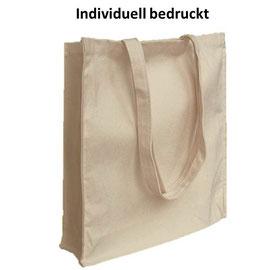 Einkaufstasche mit langen Henkel, gestärktem Boden und individuellem Druck
