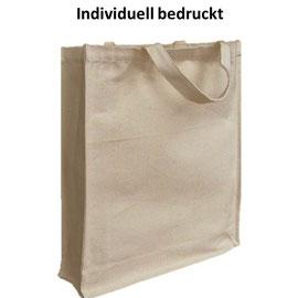 Einkaufstasche mit kurzen Henkel, gestärktem Boden und individuellem Druck