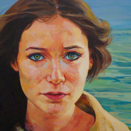 Claudia. Acrylic on canvas.