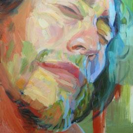 La luz en Carlos. 100 x 70 cm. Oleo sobre lienzo.