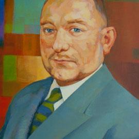 Retrato de Michel Robin. Acrílico sobre lienzo.