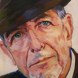 Leonard Cohen. Detail. 42 x 59,4 . Acrylic on paper.