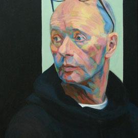 Hanjo con sweater negro. 80 x54cm. Acrílico sobre lienzo.