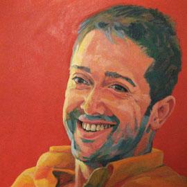 Retrato de hombre joven. Oleo sobre lienzo. *