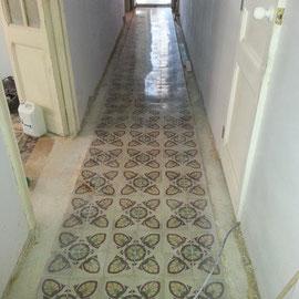 suelos de mosaico antiguo restaurados