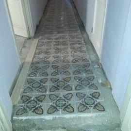 restauración de suelos de mosaico antiguo