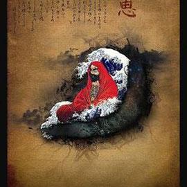 Damo ou Bodhidharma, le 1er patriarche de l'école Chan (Zen).