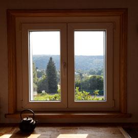 Keuken - zicht op het dorp en de vallei