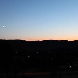 Le bout des bois - zonsondergang