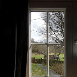 Le bout des bois - chambre Semois - la vue vers les champs