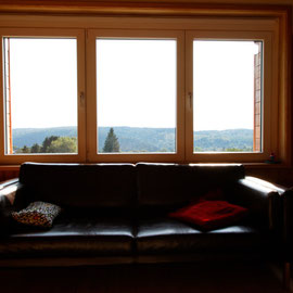 Le bout des bois - Zicht vanuit de woonkamer