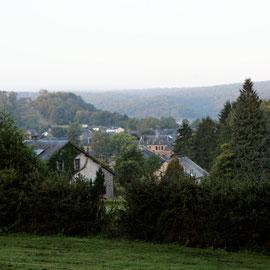 Le bout des bois - vue sur le village d'Herbeumont