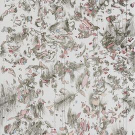 Kristin Finsterbusch, egal, einfach hoch, Tiefdruck, vernis mou, Aquarell, 2008, 40x20 cm