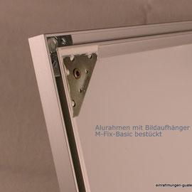 Bildaufhänger kaufen:  Alurahmen mit Bildaufhänger.  Stahlblech 60 x 60 x 1.5 mm mit Tubtarar