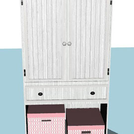 armoire ado fille