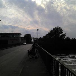 Weserstaustufe bei Wasserstraße