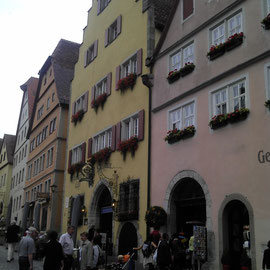Mittelalterlichiche Architektur am Rothenburger Marktplatz.