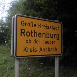 So, schon im legendären Rothenburg o.d. Tauber