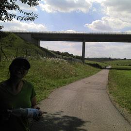 Autobahnbrücke vor Rannungen